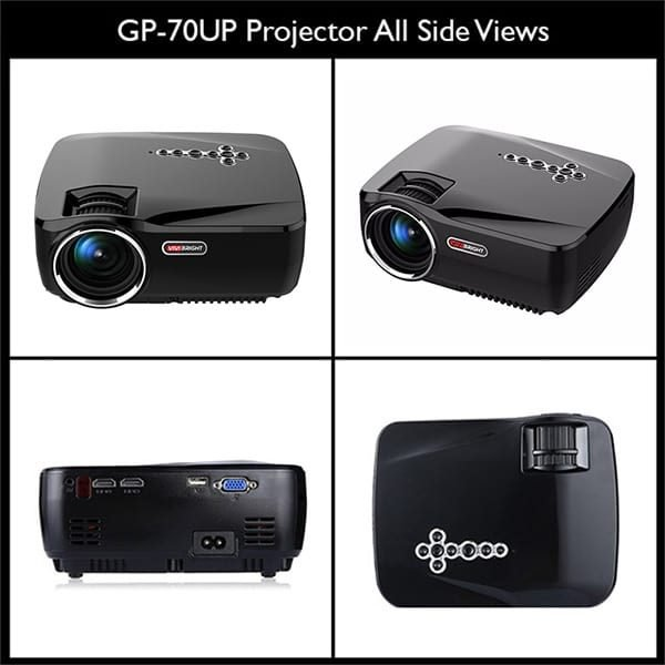 All Sides of the Vivibright GP70-UP Multimedia Projector