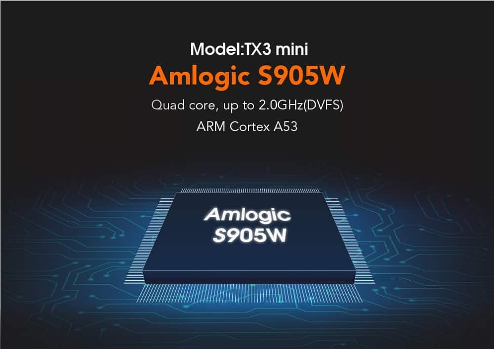 Amlogic S905W Quad Core Processor