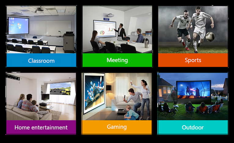 Can be used for classroom presentations and home cinema