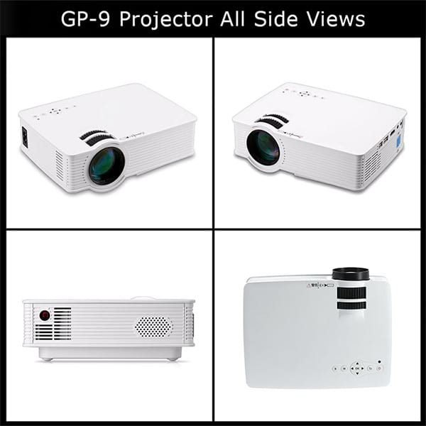 GP9 HD Projector All Side Views