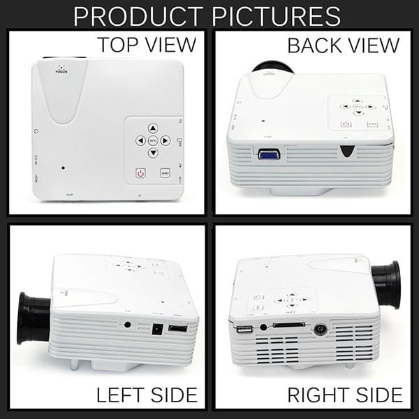 H100 Mini Projector All Side Views