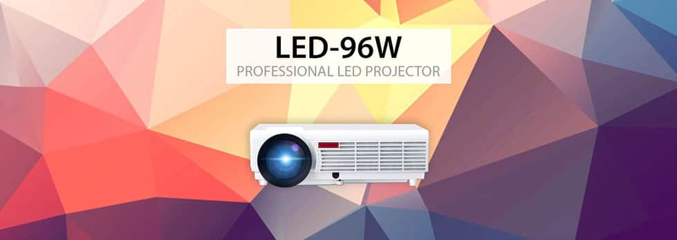 LED96W Projector Suitable For Using In Daylight