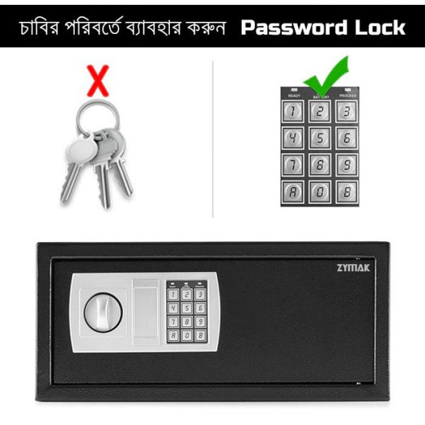 Locker with digital password security