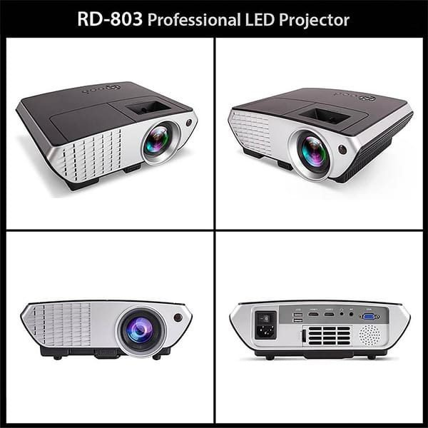 RD803 Multimedia Projector Support HD And 3D
