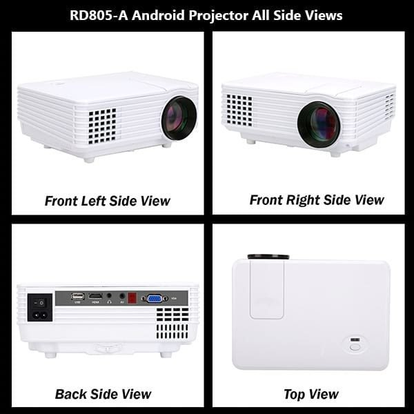 RD805A Projector Spport 2.4 GHz WiFi