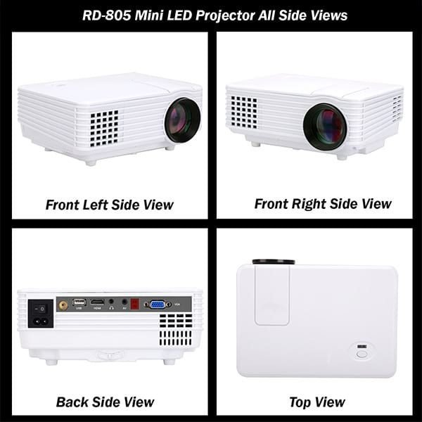 Rigal RD805 Projector All Side Views