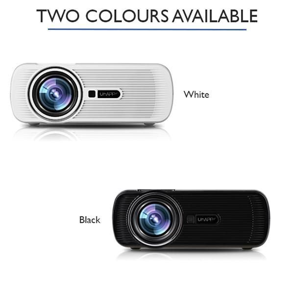 U80 LED Projector White Colour And Black COlour