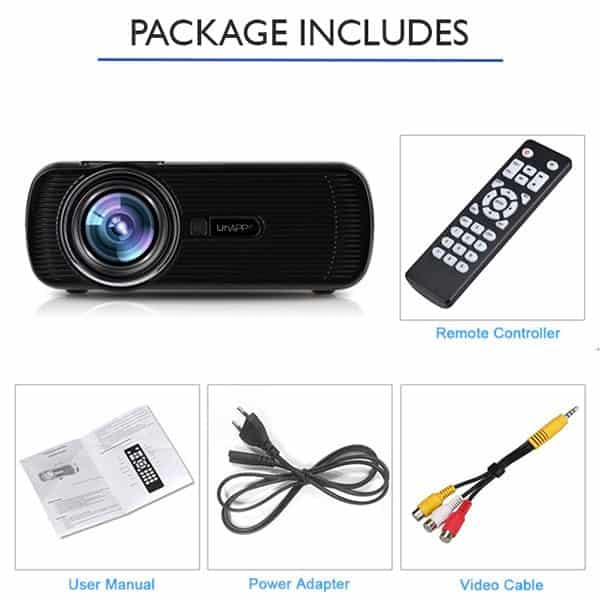 Uhappy U80 PRO Projector Full Package Combined Picture