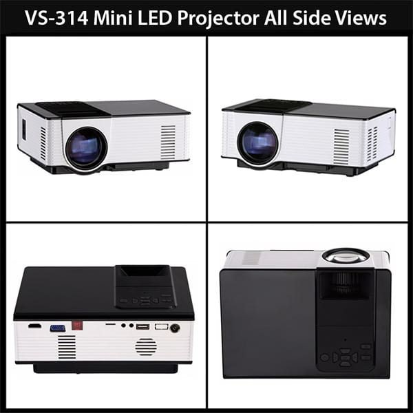 VS314-A Android Version Projector All Side Views
