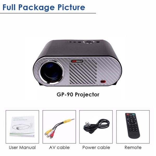 Vivibright GP90 HD Projector With Free Red Blue 3D Glass