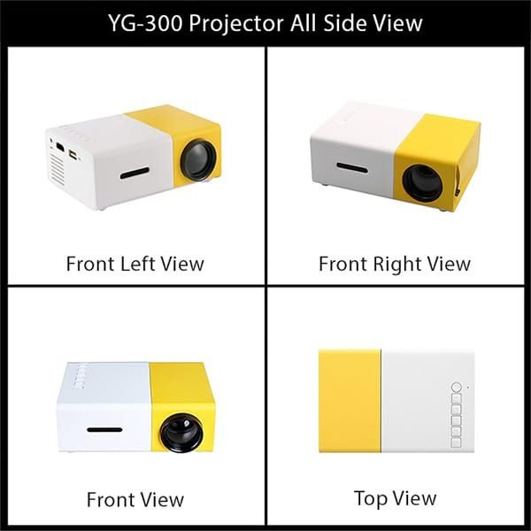 YG300 Mini Projector All Side Views