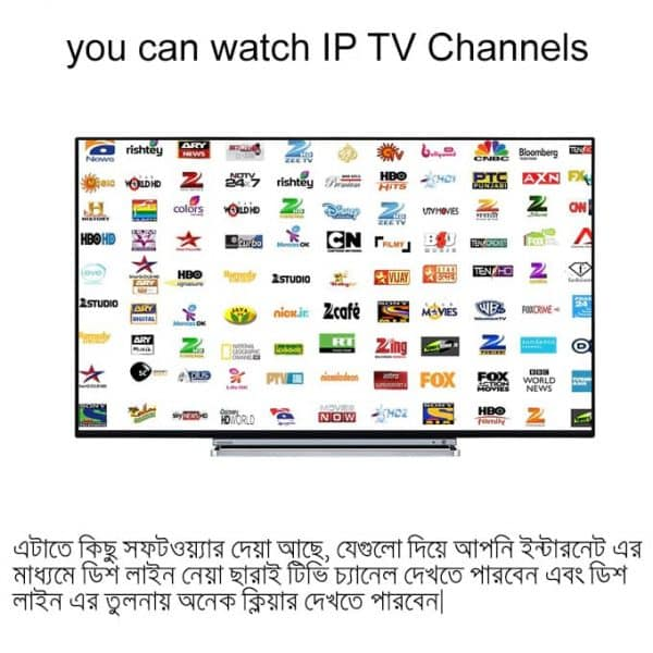 You can watch ip tv channels and use it as ip tv box