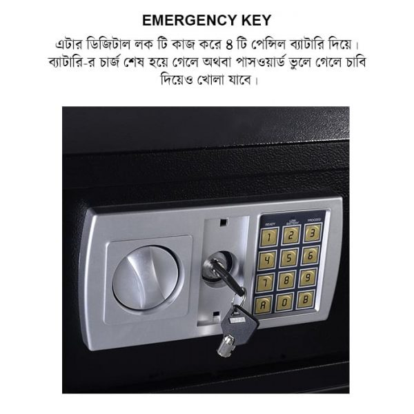 Zymak L220 Digital Locker Has Emergency Keylock