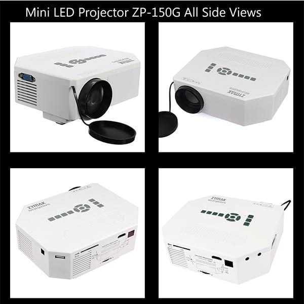 Zymak ZP150G Projector All Side Views