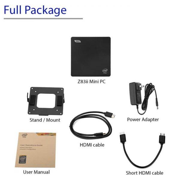 Beelink Z83ii Mini PC Full Package Picture