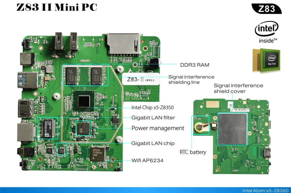 Beelink Z83ii Mini PC Motherboard