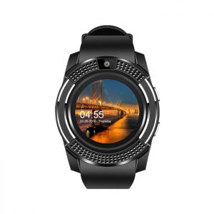 LEMFO V8 Smart Watch Black Colour Mobile Watch In Bangladesh