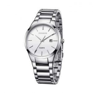 Original Curren Watch 8106 With Stainless Steel Silver Belt And White Dial