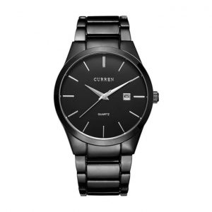 Curren 8106 Original Waterproof Watch With Black Dial And Black Belt