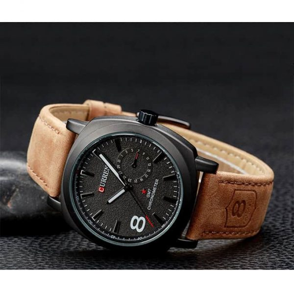 Curren Watch With Glowing Chronometer For Show