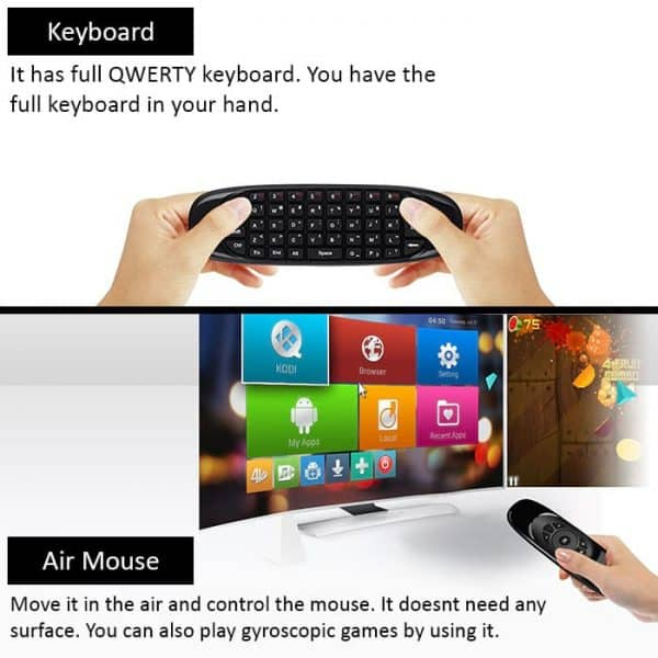 Gyroscopic mouse plus Mini keyboard