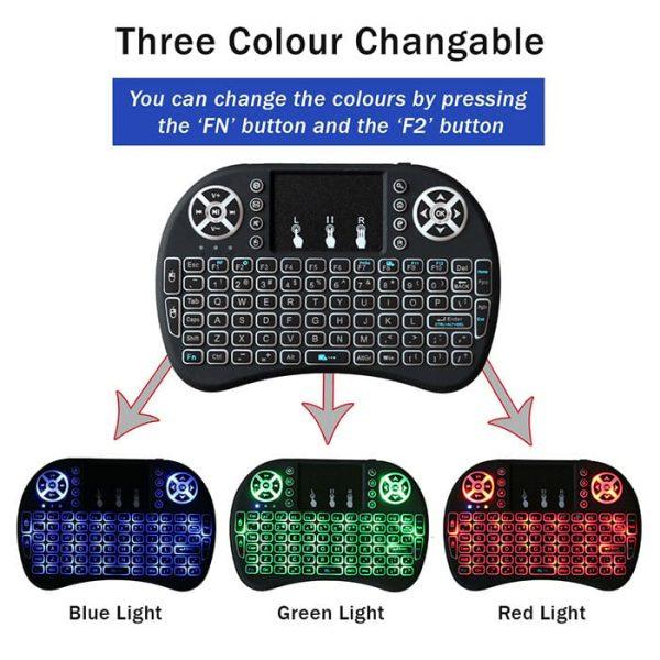 I8B Mini Keyboard Has Tri Colour RGB Backlit