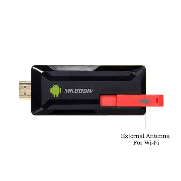 MK809IV Android TV Stick has external WiFi Antenna