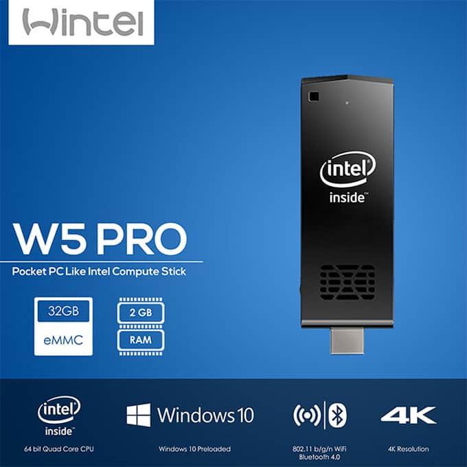 Wintel W5 PRO Pocket Mini PC Intel Compute Stick
