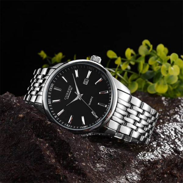 Real Picture of the Curren 8052 Silver Black