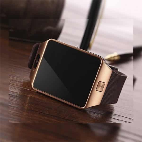 Real Picture of the DZ09 Golden Colour Smart Watch