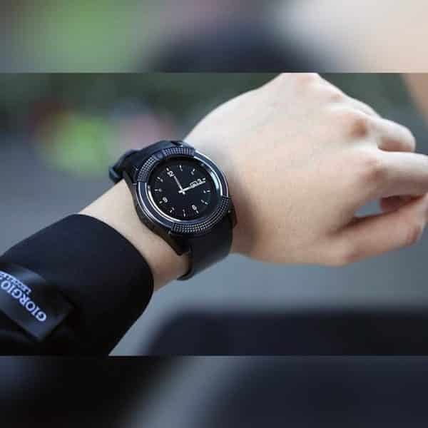 Real Picture of the LEMFO Smart Watch V8 Black