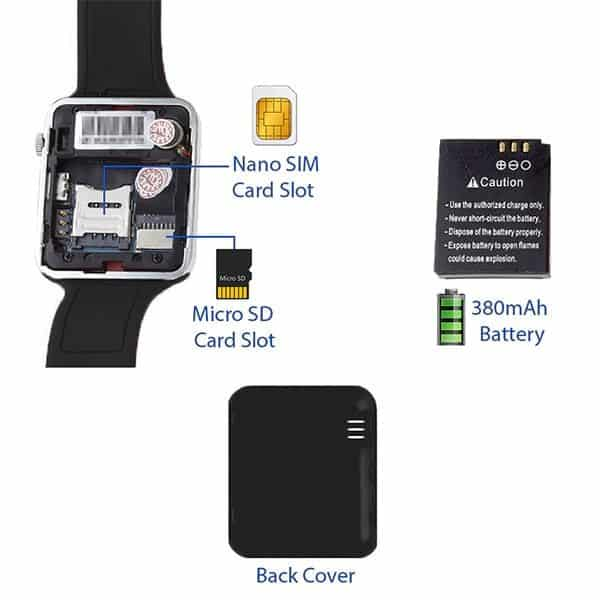 SIM Supported Apple Smart Watch A1-Silver