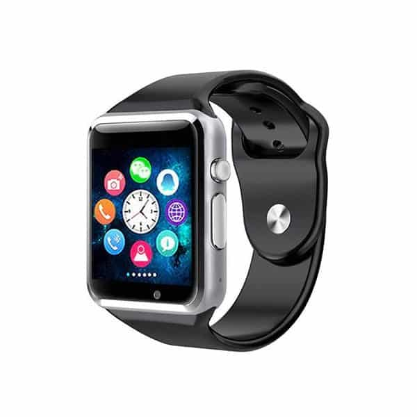 A1 Silver Colour Smart Watch Phone Look Like Apple I Watch