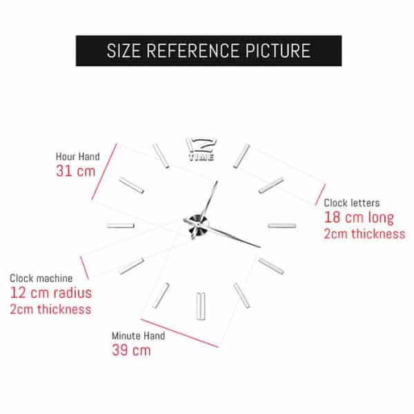 Size Reference Picture of the Large DIY Wall Clock