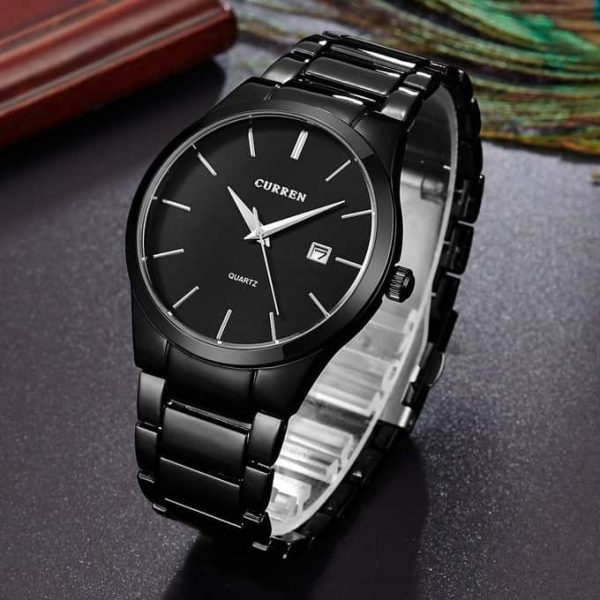 Stylish Business Watch Curren 8106 Black Wrist Watch