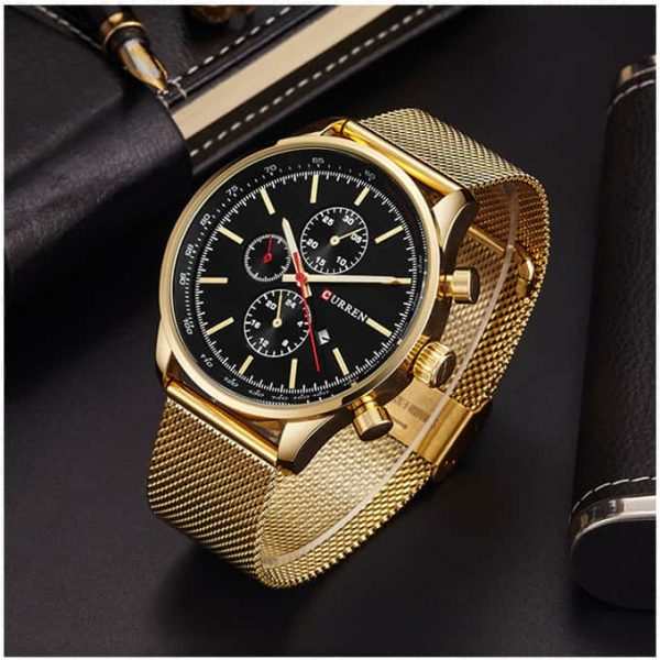 Stylish High Quality Curren Business Watch Golden