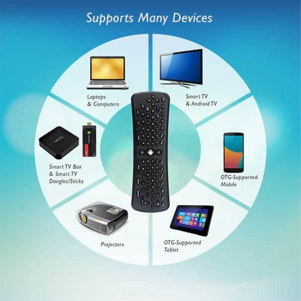 T6 Wireless Fly Air Mouse Keyboard Can Be Connected To Various Devices