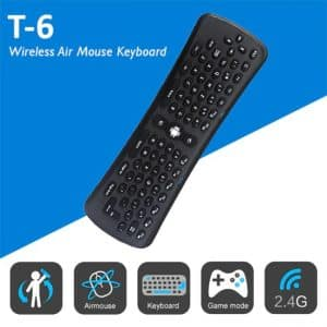 Gyroscopic Six Axis T6 Air Mouse With Keyboard Wireless BD