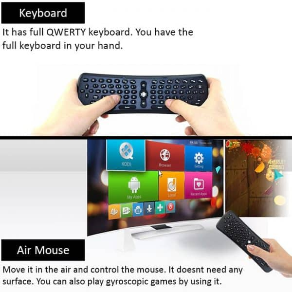 T6 has motion sensing gyroscopic mouse and mini keyboard