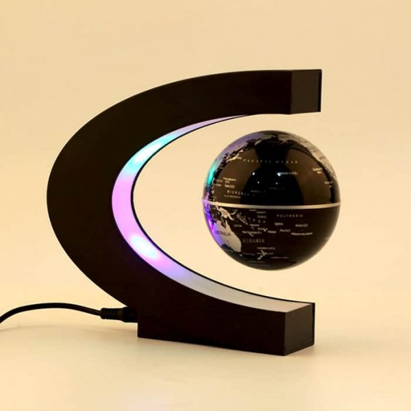 The magnetic levitating globe can float and rotate in air