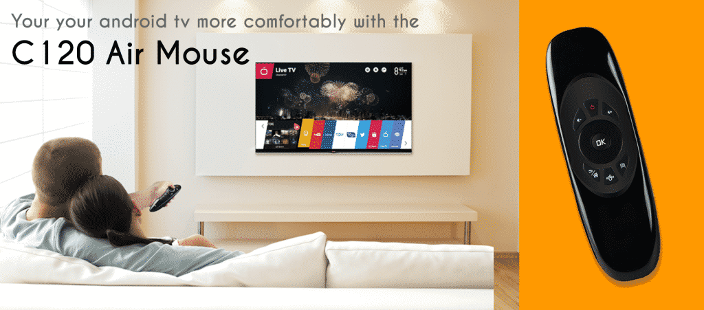 Use your android tv more comfortably with the C120 Air Mouse