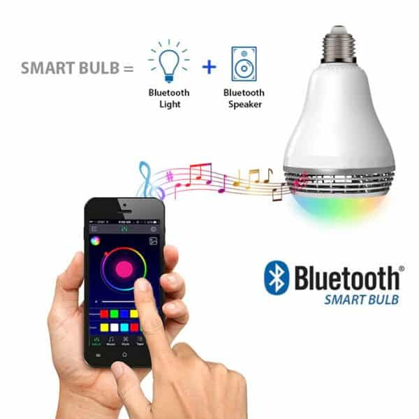 Bluetooth Colour Changing Bulb With Bluetooth Speaker Model W-4