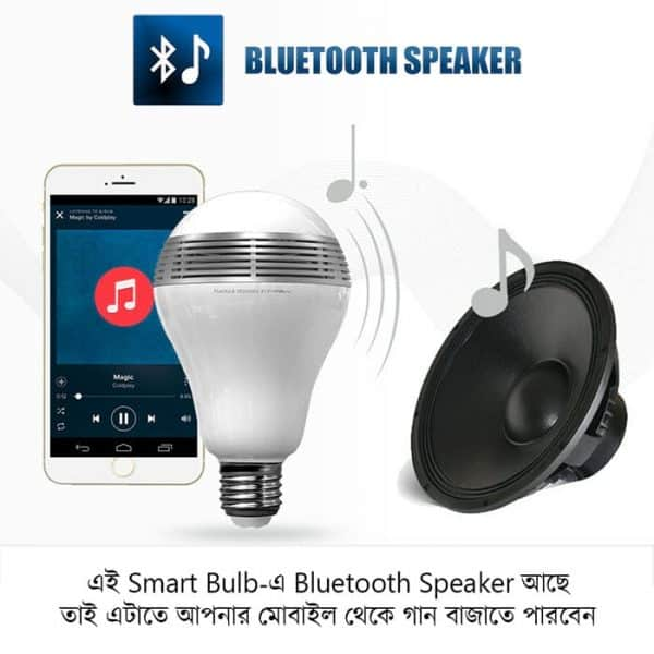 W4 smart bulb has bluetooth speaker function