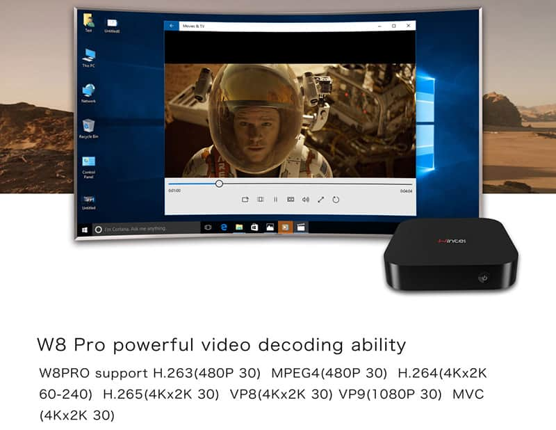 Windows TV Box WIth Powerful GPU