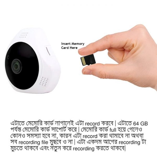 X900 WiFi Mini IP Camera Has Memory Card Slot