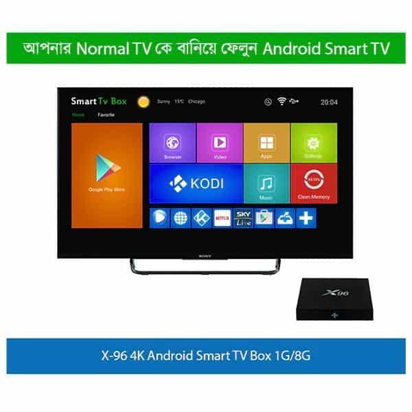 X96 1G-8G Android TV Box Menu