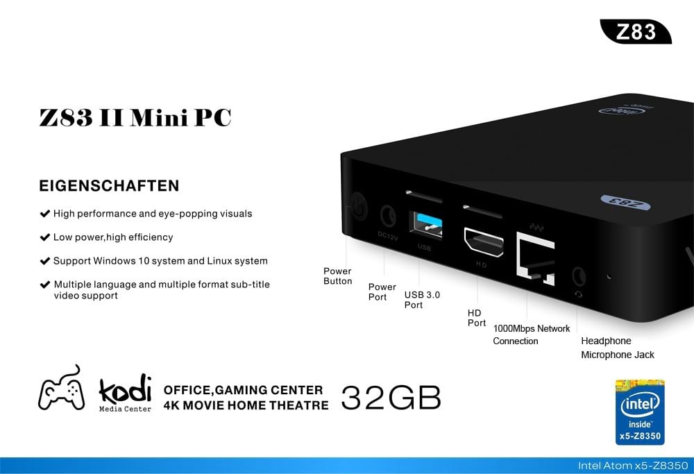 Z83ii Pocket PC Has High Benchmark Scores Like Intel NUC