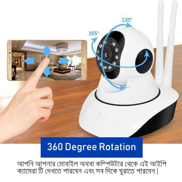 ZC720 360 degrre cctv camera supports PTZ movement