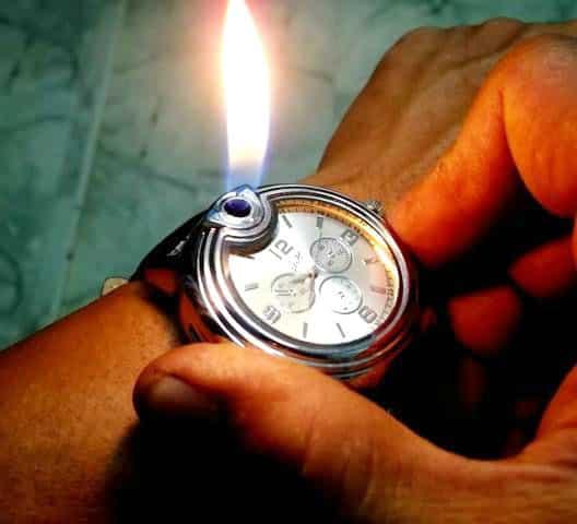 men's wrist watch lighter