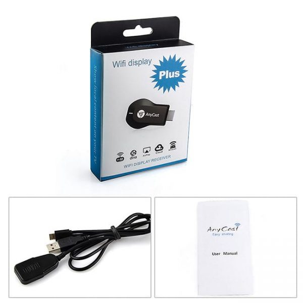 Anycast wireless display dongle full package picture